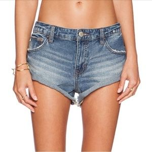 Free People Irreplaceable Mid Rise Denim Shorts